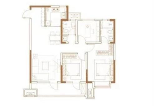 青岛装修方案 天泰天空之城 3室2厅2卫 110平米