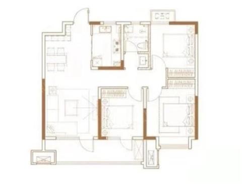 青岛装修方案 天泰天空之城 3室2厅1卫 98平米